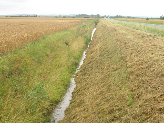 Drainage ditch beside the A161