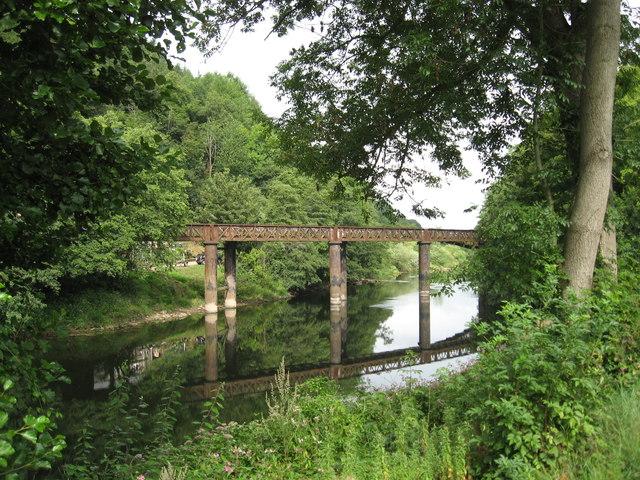 Disused railway bridge on the RiverWye