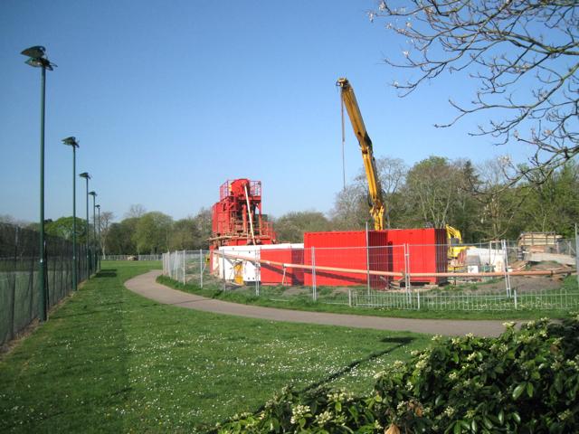 Contractor's compound, Victoria Park