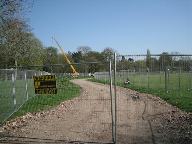Haul road and crane, Victoria Park