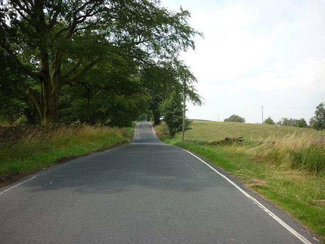 York Gate (road) towards Otley Chevin