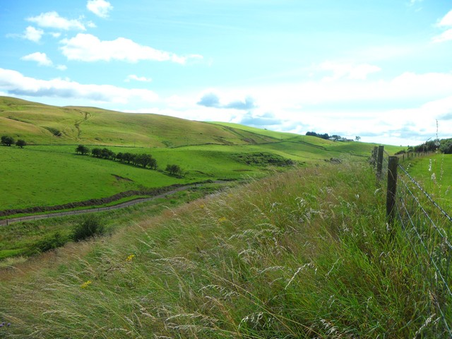 Looking along the glen of the Earn Water