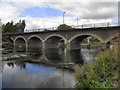SP2053 : River Avon, Seven Meadows Road Bridge by David Dixon