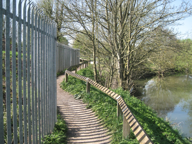 Shadows across Riverside Walk