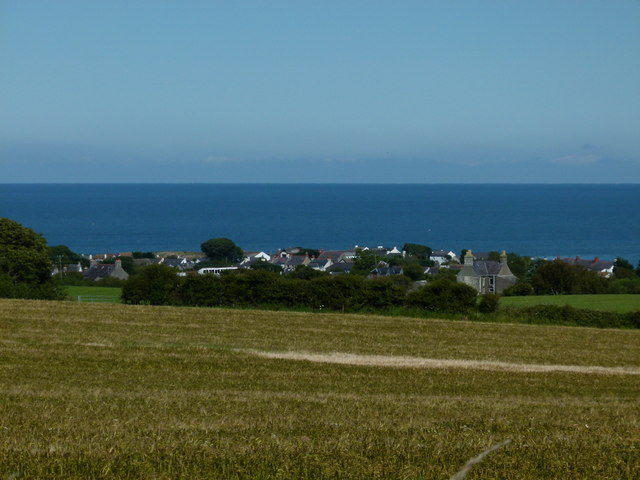 View of Moelfre across field