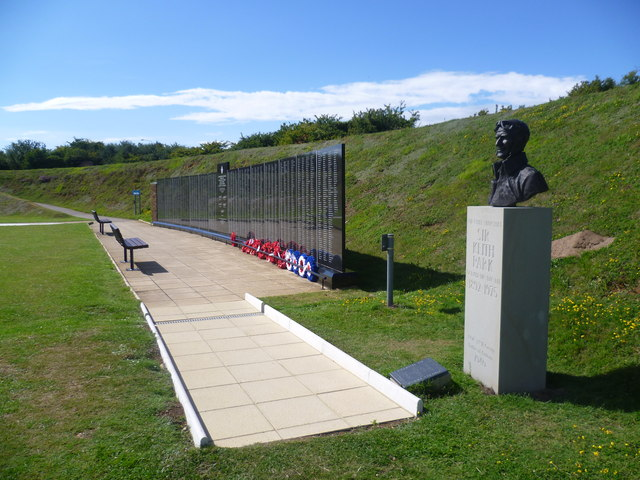 The Battle of Britain Memorial Wall, Capel-le-Ferne