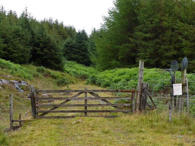 Track near Breac Achadh