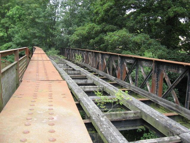 Disused railway bridge on the Wye Valley line