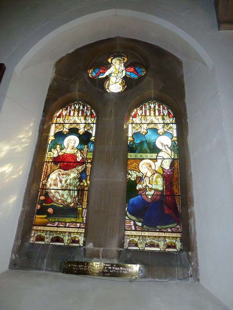 Whitchurch-All Hallows: stained glass window (2)