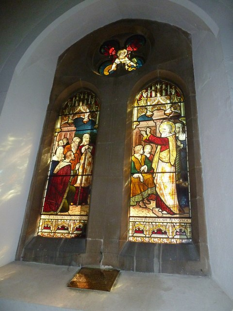 Whitchurch-All Hallows: stained glass window (3)