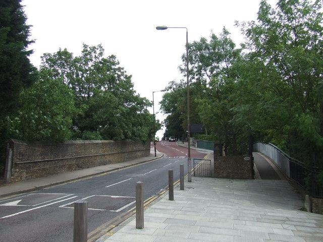 Vanbrugh Hill railway bridge, near Greenwich