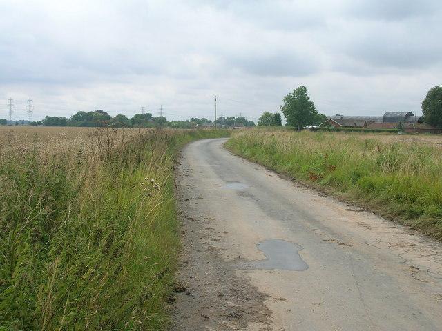 Ness Lane towards Garthorpe