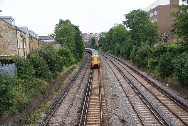 Train heading towards Waterloo