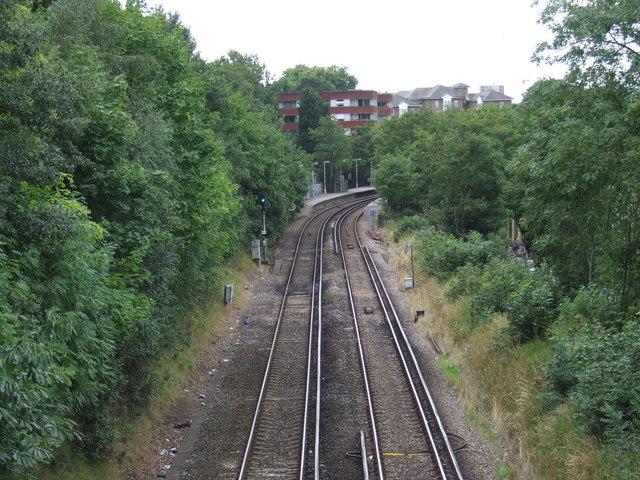 Railway at Maze Hill, near Greenwich