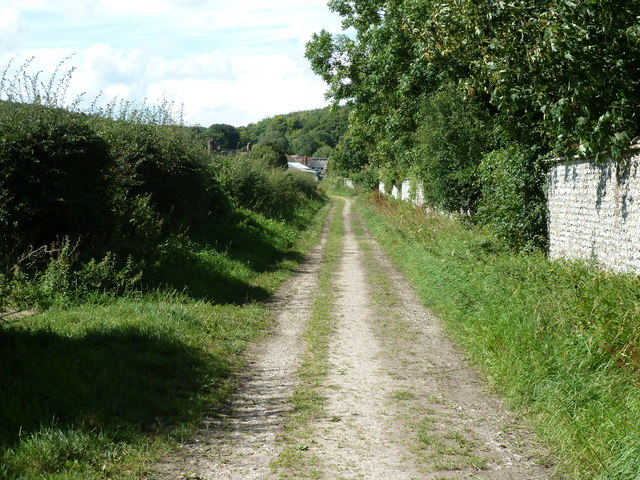 Approach to Manor Farm at West Dean