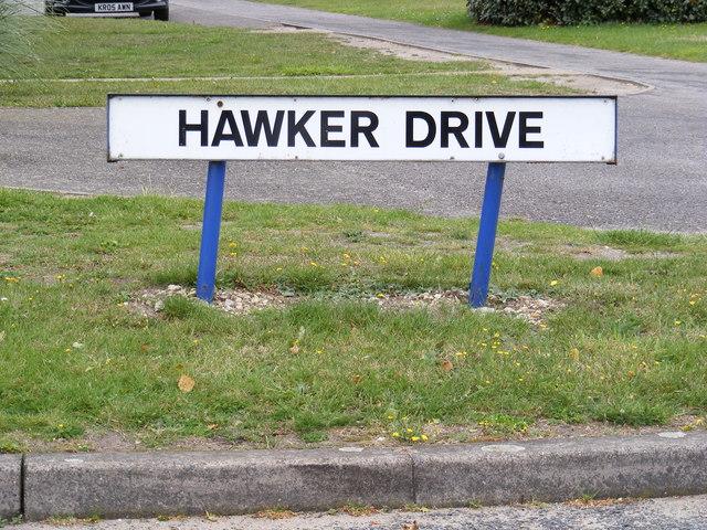 Hawker Drive sign