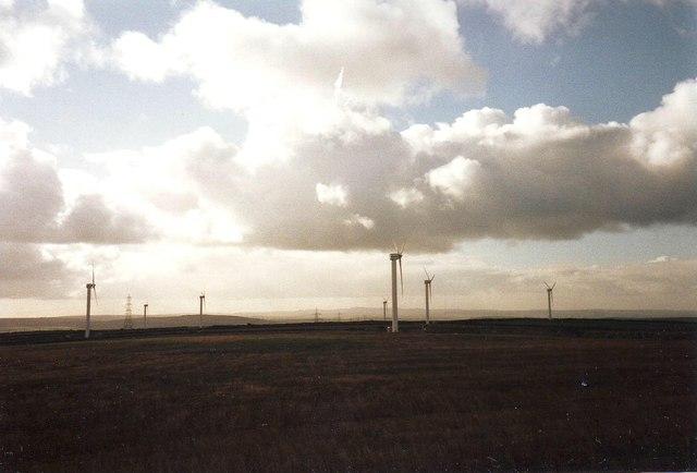 Wind farm near Rockhead, Cornwall