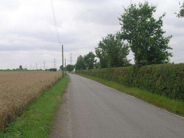 Minor road towards Amcotts