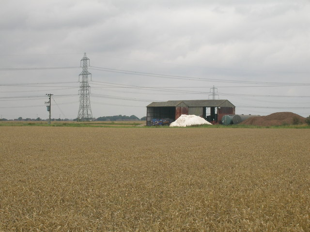 Farm buildings near Amcotts