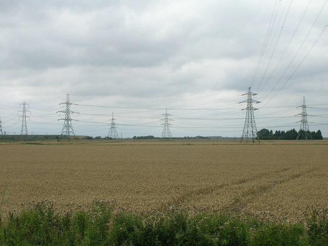 Farmland north of Keadby