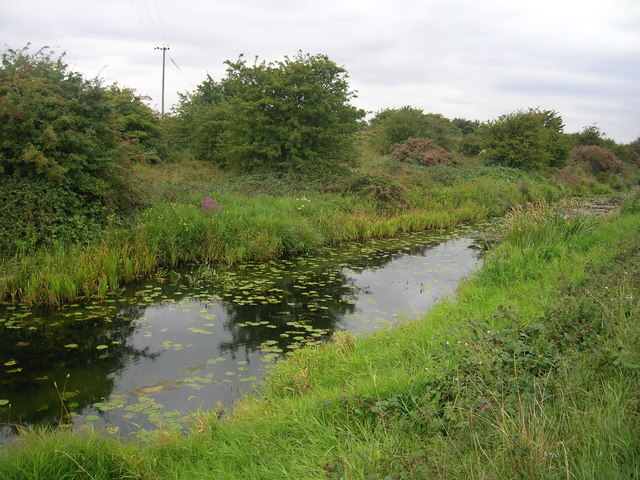 Drainage beside the A18