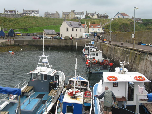 Boats in St Abb's Harbour