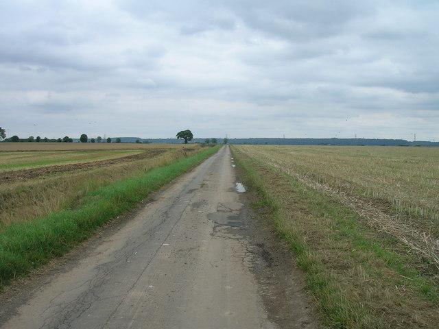 Carr Lane towards Luddington