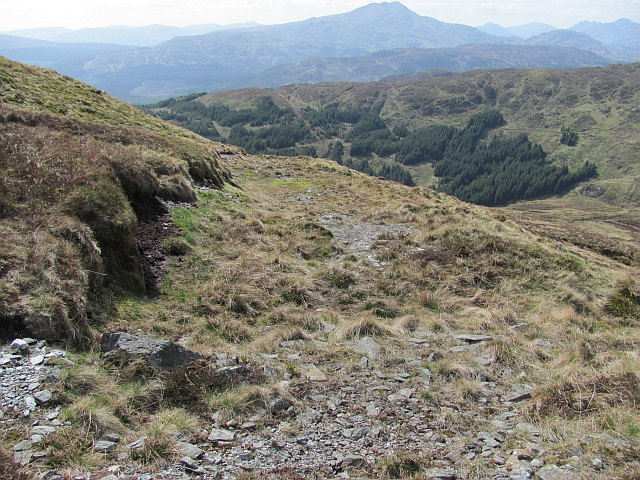 Abandoned road, Stob an Lochain