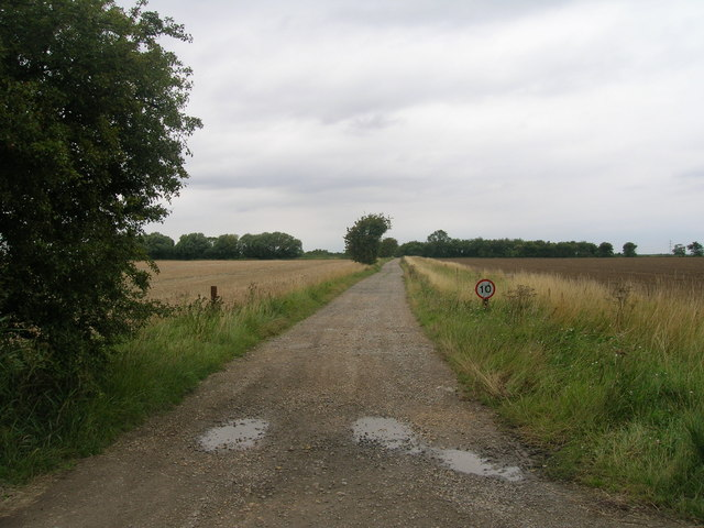 Track to Haldenby Hall Farm
