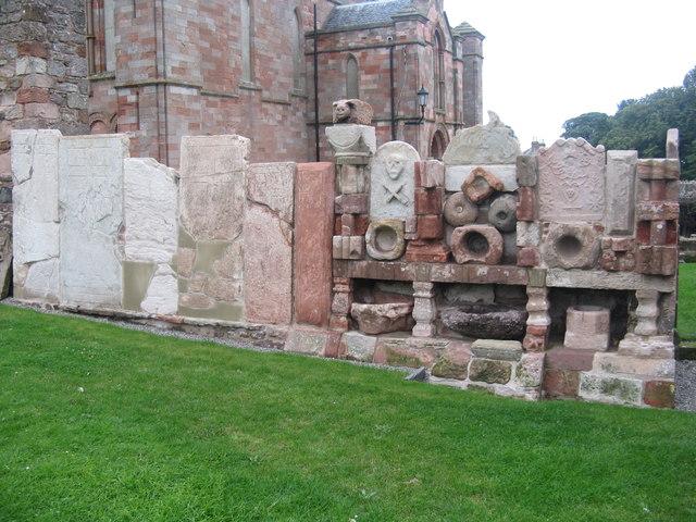 The lapidarium at Coldingham