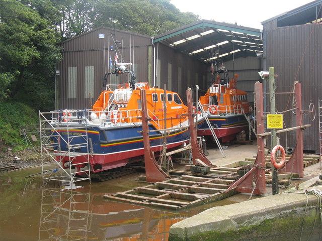 Lifeboats at Eyemouth