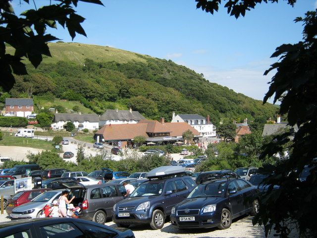 West Lulworth from the visitor car park