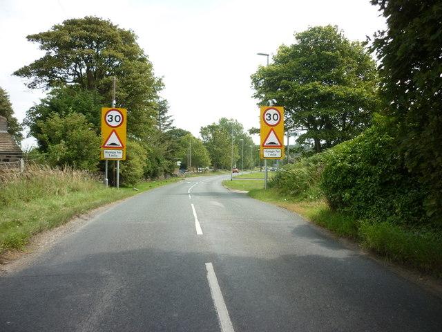 Cookridge Lane, Cookridge on the outskirts of Leeds