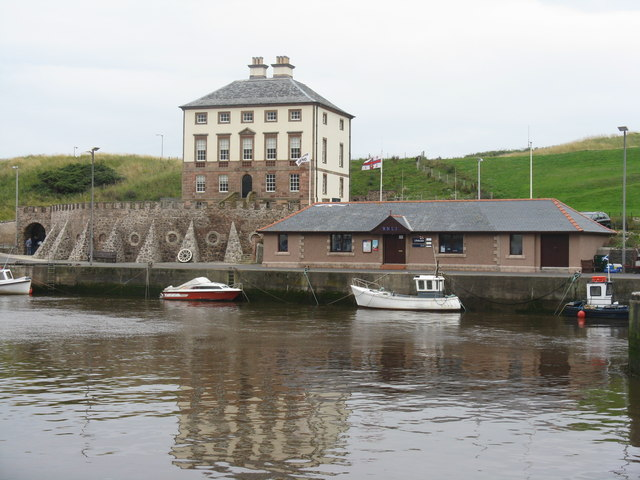 Gunsgreen House and the RNLI building