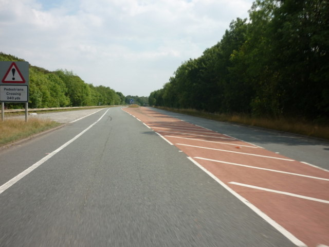 The A1, north of Brotherton