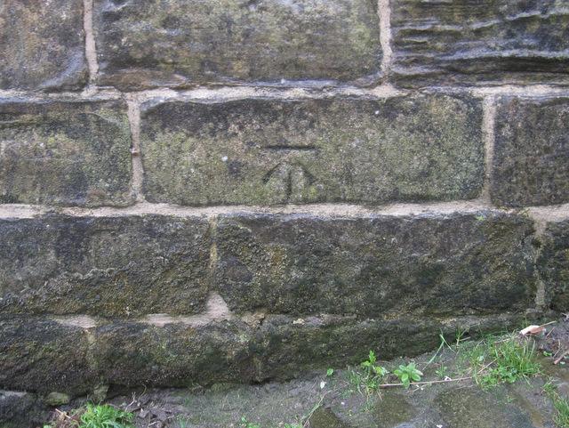 Bench mark in Church Lane