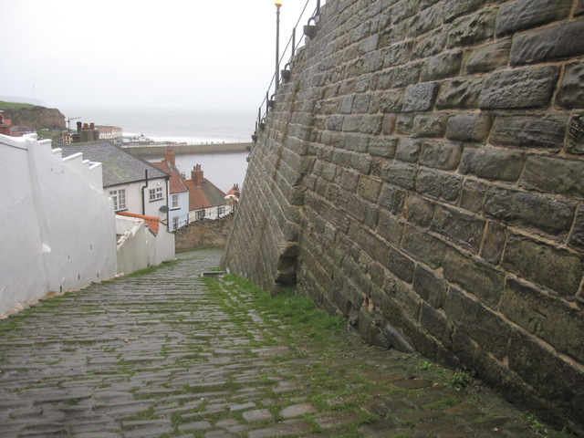 Church Lane, Whitby on a wet day