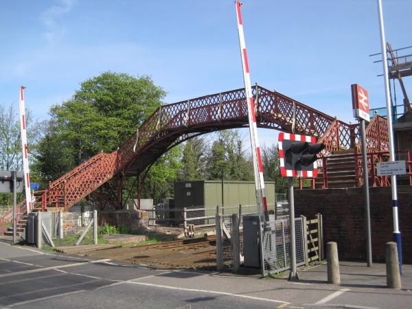 Footbridge at Wylam Railway Station