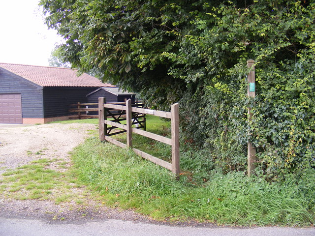 Footpath to Swan Lane & Brandeston Road