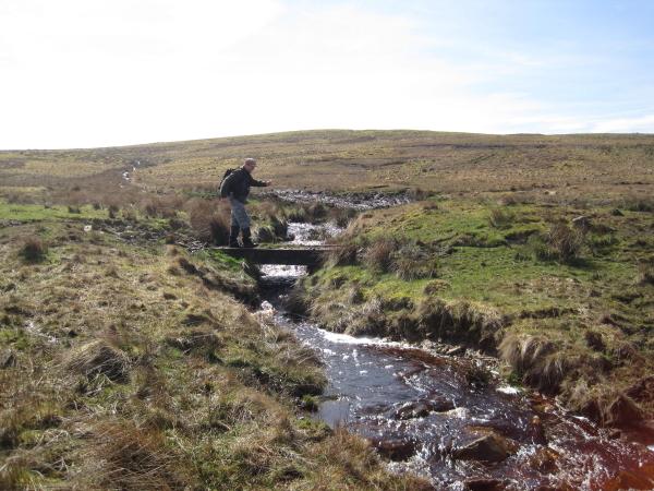 Footbridge across unnamed Sike