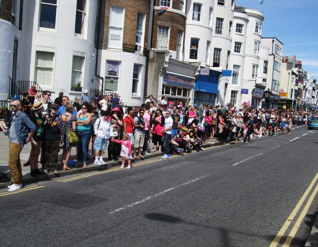 Crowds await Brighton Pride Parade