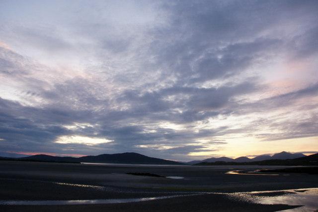 Sunset from Beul na Mara, Seilebost