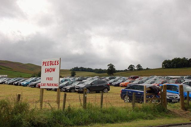 Car park, Peebles Agricultural Show