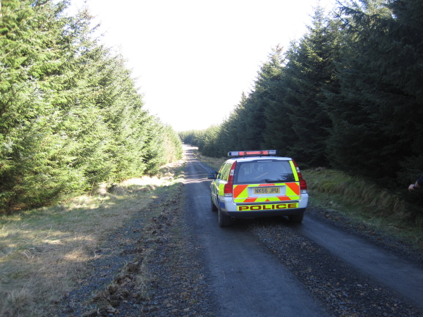 Lost Police Car in Wark Forest
