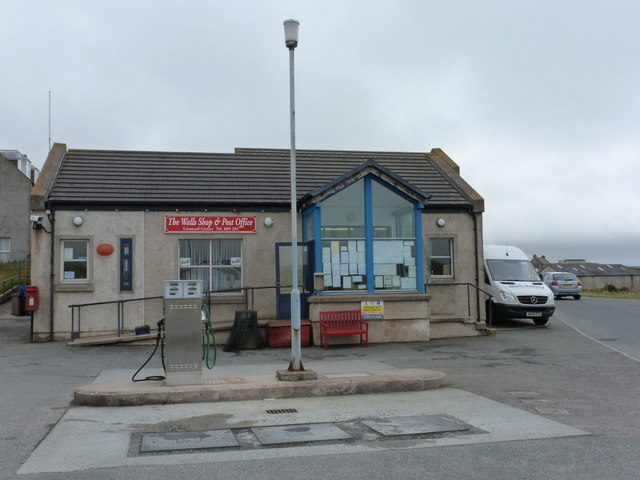 Walls: the shop and post office