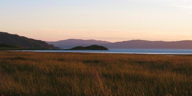 Saltmarsh at sunset