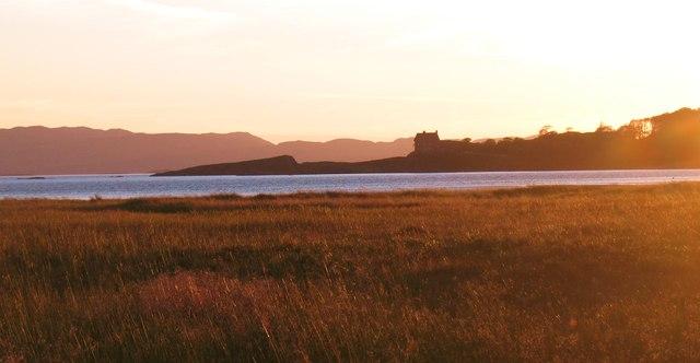 Across the saltmarsh at sunset