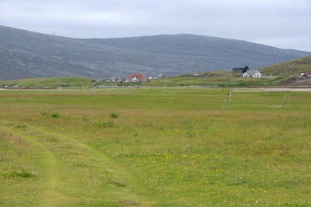Football pitch beside Shelibost School
