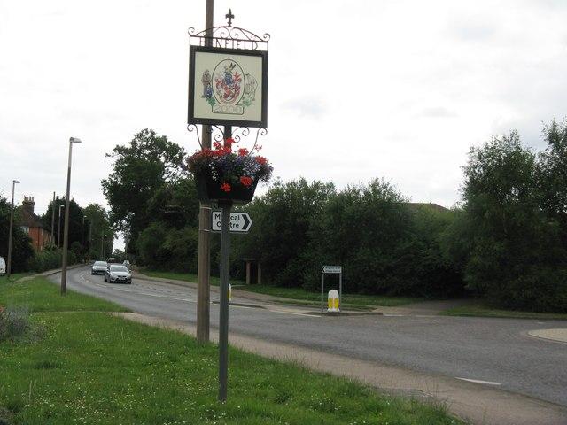 Henfield village Millennium sign