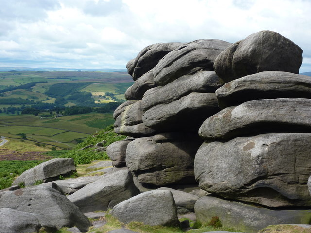 Rock formation, west end of Higger Tor